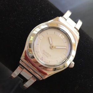 """🔥SWATCH Irony """"Crystalline"""" Stainless Steel Watch"""